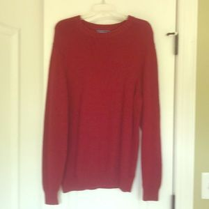 Men's red sweater size large